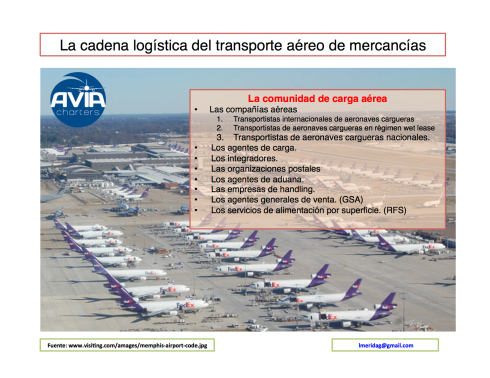 cadena logistica carga aerea