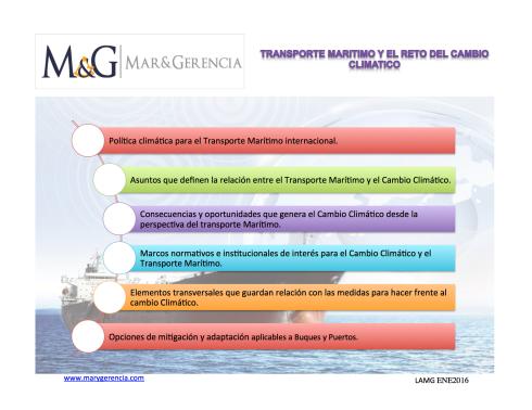 Cambio Climatico y Transporte Maritimo