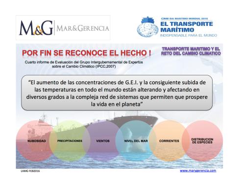 Transporte Maritimo y Cambio Climatico IPCC