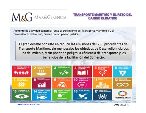 Transporte Maritimo y Cambio climatico emisiones CO2 Desarrollo sostenible