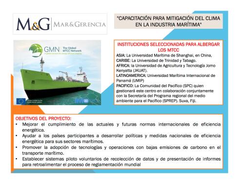 Capacitación para mitigación del clima en la industria marítima