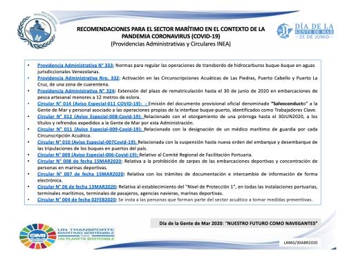 Orientaciones INEA al sector acuático sobre el COVID-19